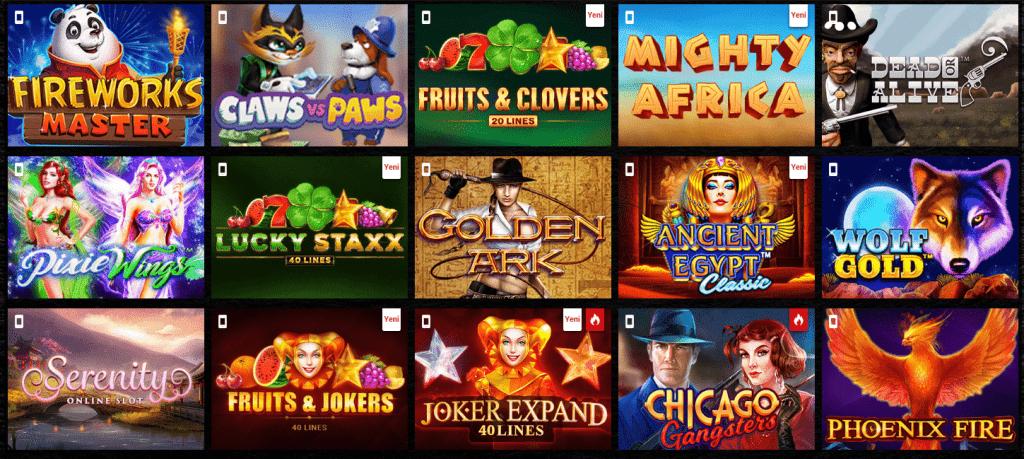 dragonbahis casinoda oyunların seçim yelpazesi